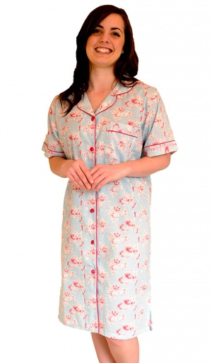 Pure Cotton Vintage Floral Short Sleeve Nightshirt