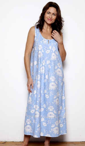 Nora Rose Blue Floral Nightdress