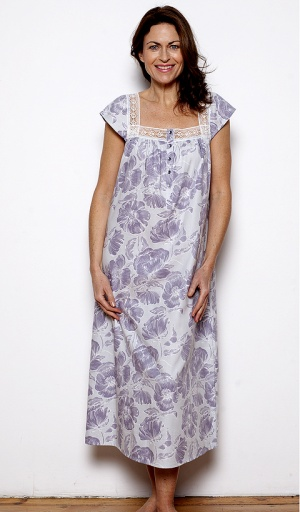 Nora Rose Mauve Floral Nightdress