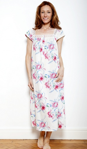 Nora Rose Cap Sleeve Floral Nightdress