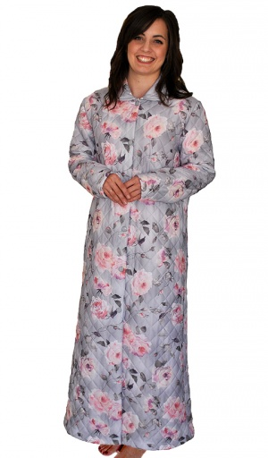 Full Length Floral Quilted Housecoat Suzanne Charles