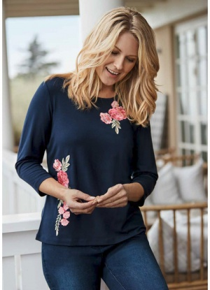 Signature Floral Embroidered Top