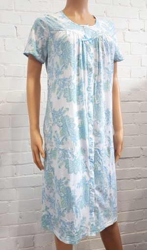 Indego Sky Floral Button Through Nightdress