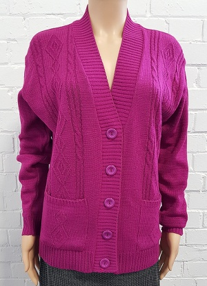 Classic Knitted Cable Button Cardigan