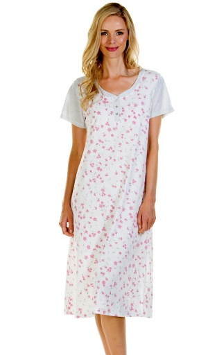 La Marquise Floral Cotton Rich Nightdress