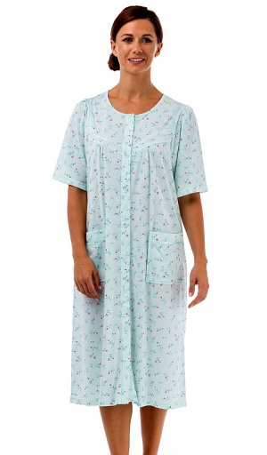 La Marquise Button Through Ditsy Floral Nightdress