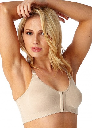Soft Cup Cotton Front Fastening Bra