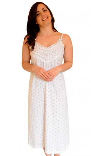 Pure Cotton Jersey Strappy Nightdress