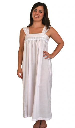 Pure Cotton Wide Strappy Nightdress