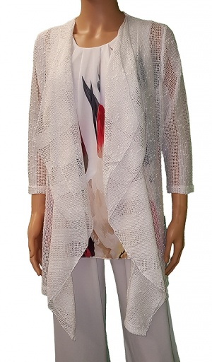 Florri Water Fall Ivory Lace Jacket