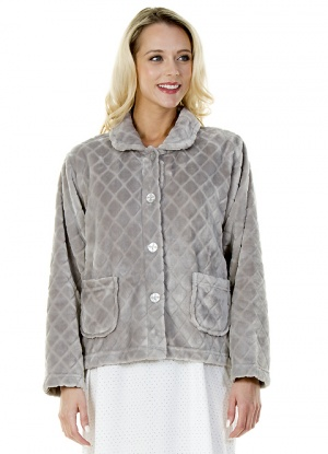 La Marquise Diamond Jacquard Bed Jacket