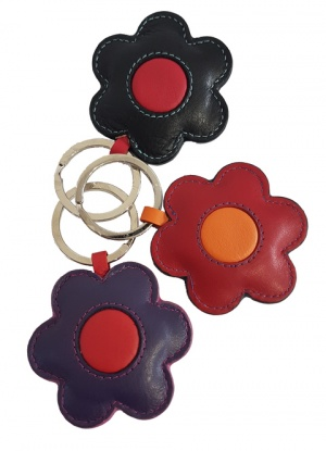 Golunski Leather Flower Key Ring