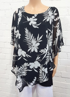 Chiffon Over Layer Floral Top