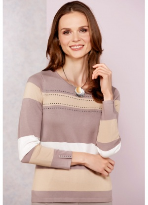 Emreco Round Neck Stripe Jumper