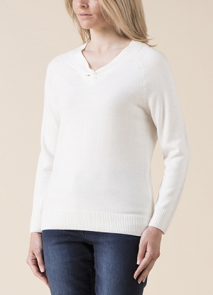 Emreco V Neck Knot detail Jumper