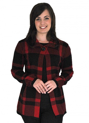 Claudia C Collared Check Jacket