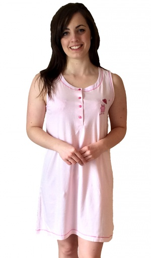 Pure Cotton Sleeveless Nightshirt