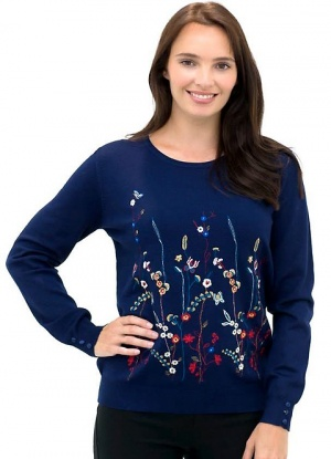MudFlower Floral Embroidered Jumper