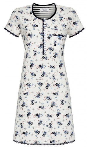 Ringella Short Sleeve Pure Cotton Floral Nightdress