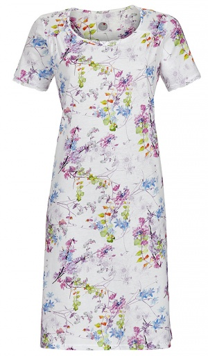 Ringella Short Sleeve Cotton Modal Floral Nightdress