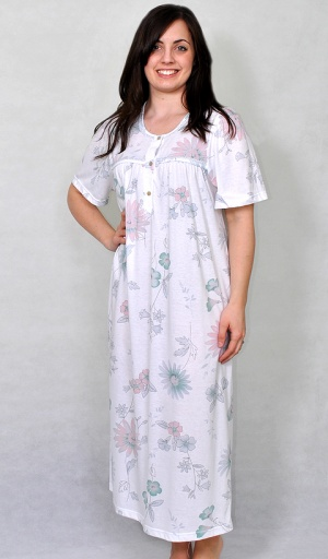Luxury Pure Cotton Floral Nightdress