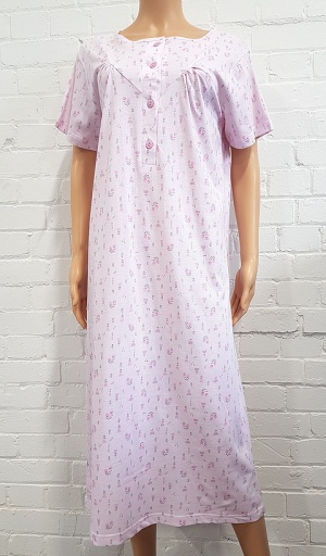 Pure Cotton V Yoke Nightdress