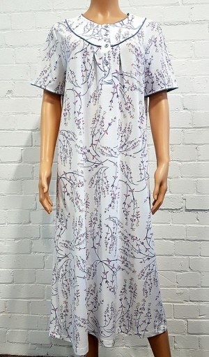 Pure Cotton Jersey Round Yoke Nightdress