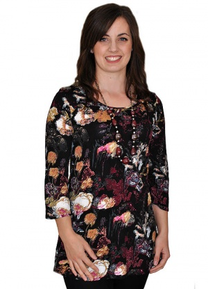 Saloos Abstract Floral Print Top