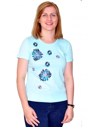 Claudia C Scattered Flower Print T-shirt