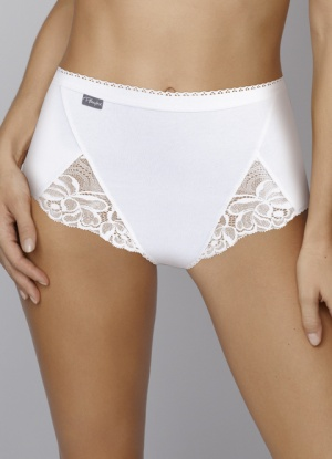 Playtex 3 pair pack Cotton and Lace Maxi Briefs