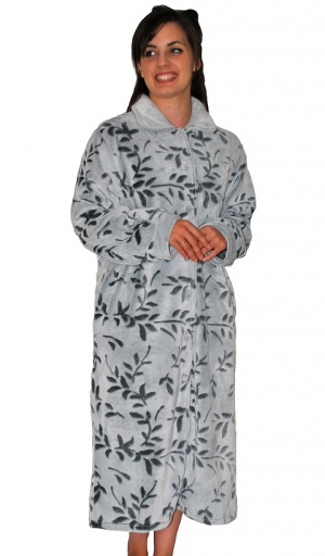 Soft And Cosy Leaf Fleece Housecoat