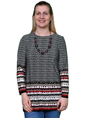 Saloos Spot And Strip Print Tunic
