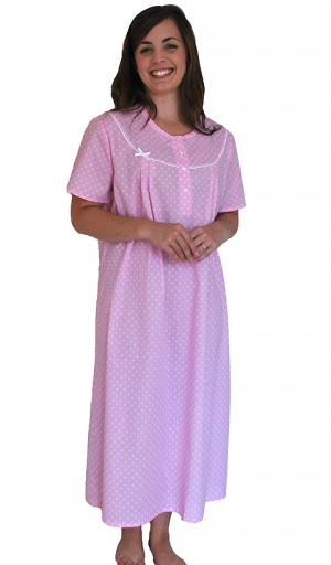 Pure Cotton Short Sleeve Daisy Nightdress