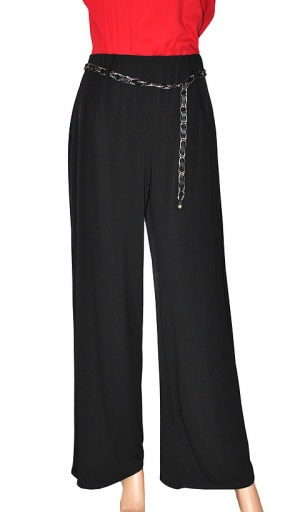 Saloos Elegant Stretch Wide Leg Trouser