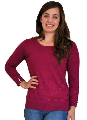 Claudia C Embroidered Spot Jumper