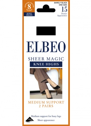Elbeo Medium Support Sheer Magic Knee Highs 2pk