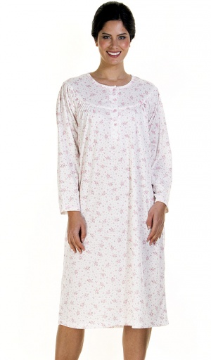 La Marquise Warm Floral Brushed Nightdress