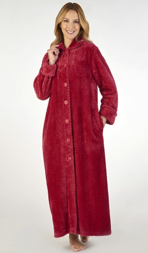 Slenderella Waffle Full Length Button Housecoat