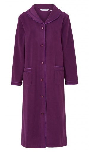 Slenderella Polar Fleece Button Housecoat