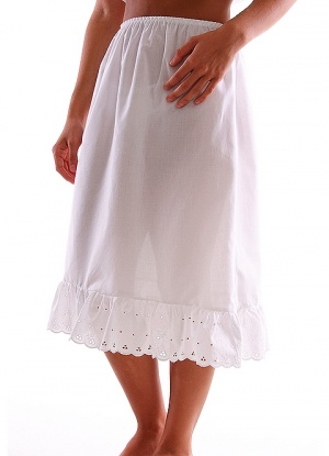 JD Collection 100% Cotton Frill Waist Slip