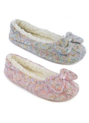 Knitter Slipper With Bow