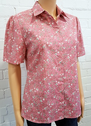 Double Two Pure Cotton Floral Blouse