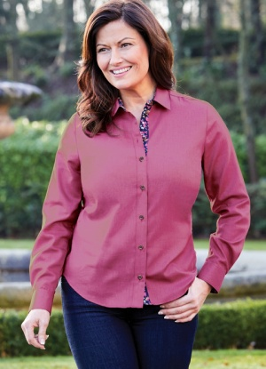 Double Two Long Sleeve Classic Blouse