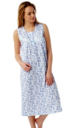 Marlon Sleeveless Pure Cotton Nightdress