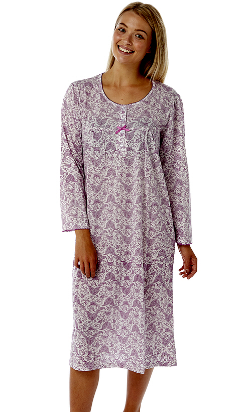 Marlon Floral Long Sleeve Nightdress