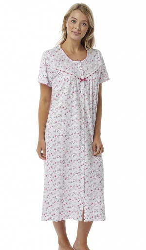 Marlon Short Sleeve Button Through Nightdress