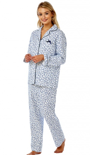 Marlon Pure Brushed Cotton Classic Floral Pyjama