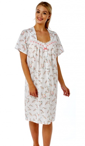 Marlon Ribbon Slot Button Through Nightdress