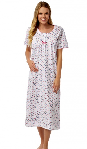 Marlon  Jersey Short Sleeve Cotton Nightdress