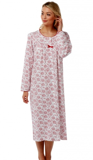 Marlon Front Opening Long Sleeve Nightdress